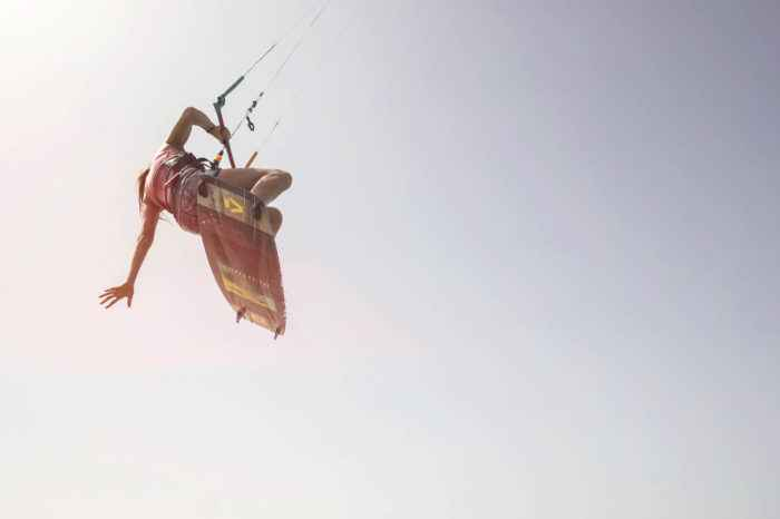 Kitesurf-Sprung