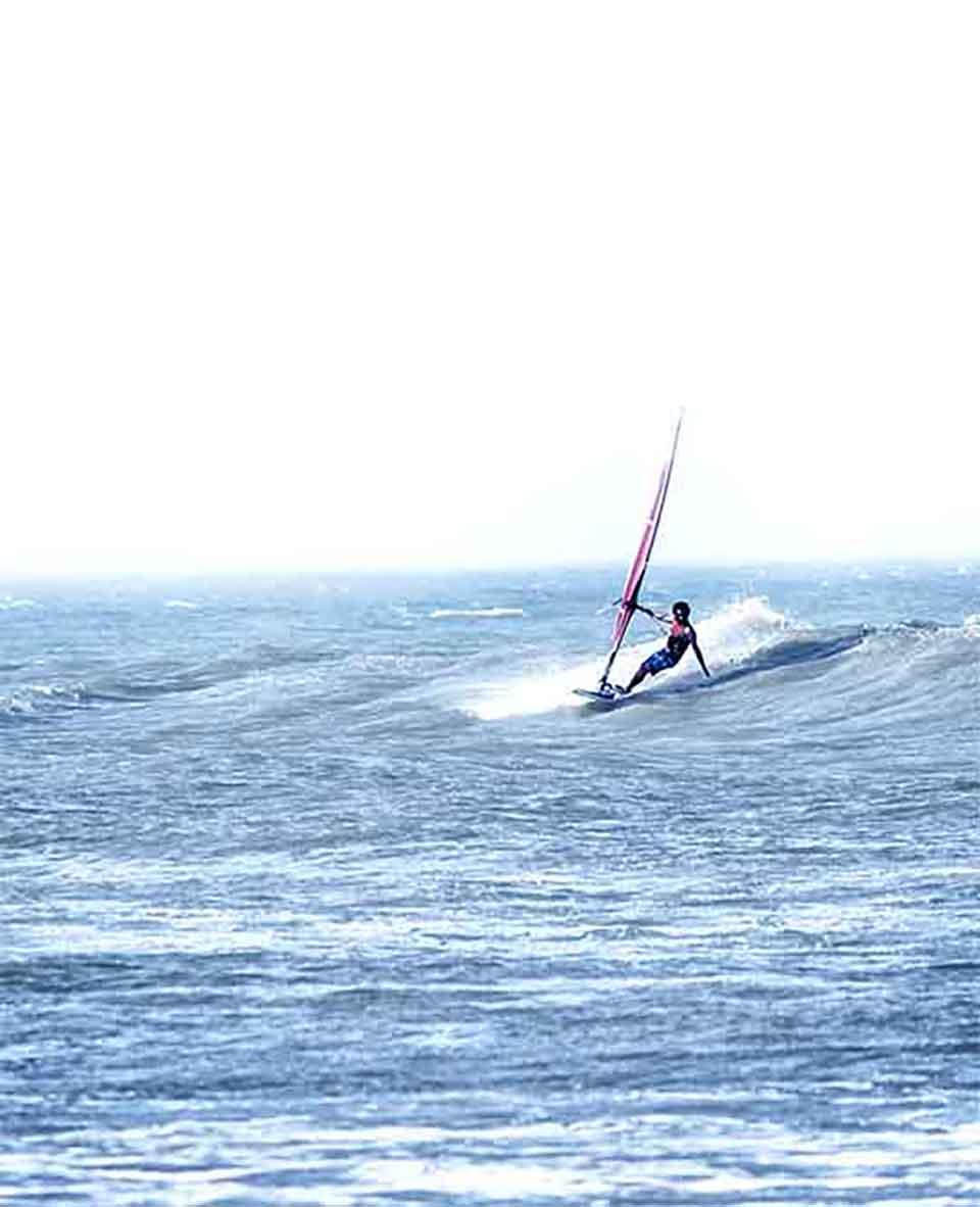 windsurf vagues