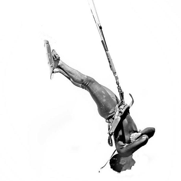 kitesurfer à l'envers