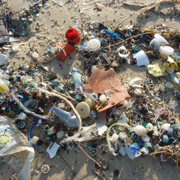 plastique sur une plage