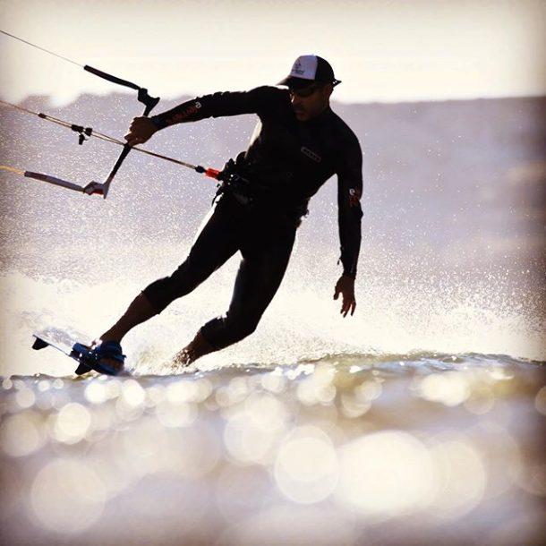 kitesurfer débutant