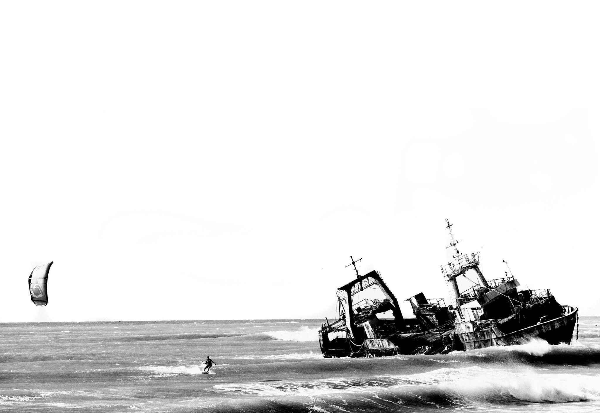 Kitesurf-Ozean