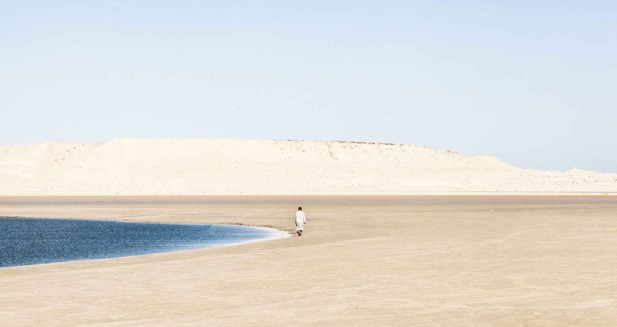 Playa de la laguna de Dakhla