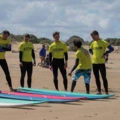 Cours de surf groupe